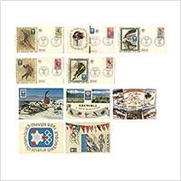 【初日カバー】グルノーブル冬季オリンピック記念(1968年)絵葉書付き