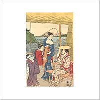 【浮世絵(復刻)】鳥居清長「江の島詣」※橋口五葉編『やまと錦絵』より