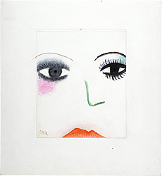 季刊デザイン 第10号 1975 夏号 表紙原画 / 灘本唯人