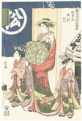 雛形若菜の初模様 松葉屋 瀬川 ささの 竹の【復刻版】 / 清長