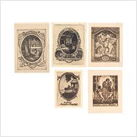 【銅版】オットー・タメル「蔵書票」5枚 1918・19年頃