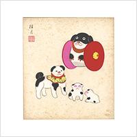 【自筆画色紙】清水桂月 #886