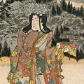 国貞初代「義経一代記之内 鬼一法眼の娘皆鶴姫より六韜三略の巻を授り兵道に達して其名を後世に挙る」