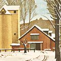 岡鹿之助「残雪の牧場」