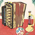 川西英「手毬・手風琴・喇叭 支那人形」