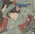 国芳「一谷嫩軍記 玉折姫」