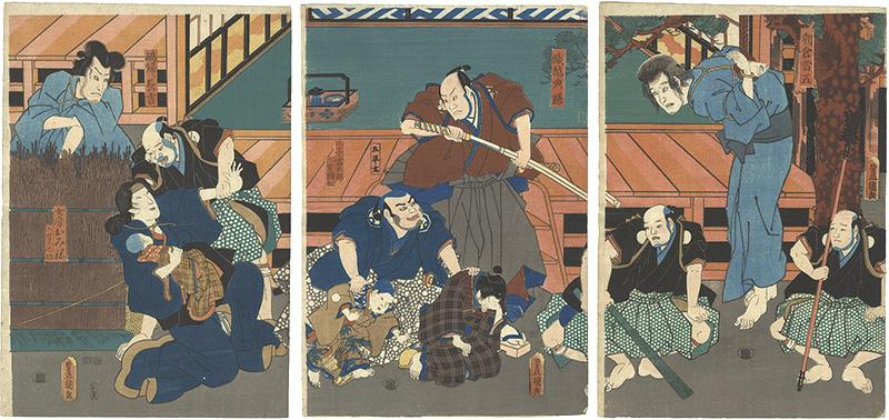 豊国三代「東山桜荘子」/