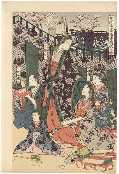 歌麿「太閤五妻洛東遊観之図【復刻版】」/