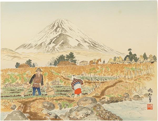 定方塊石「佐野村と富士」/