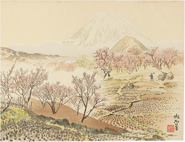 定方塊石「下曽我の梅林と富士」/