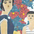 橋本興家「バラと母子」