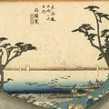 広重初代「東海道五十三次之内 白須賀」