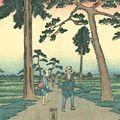 広重初代「東海道五十三次之内 袋井」