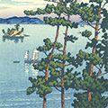 川瀬巴水「旅みやげ第三集 福岡西公園」