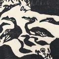 棟方志功「「善知鳥」山砂巣の柵」