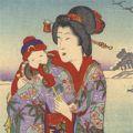 延一「雪月花内 瑠璃袴に雪」