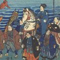 芳盛「東海道行列の図」