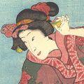 豊国三代「六歌仙和略風俗」