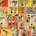 川端龍子「家庭教育双六」