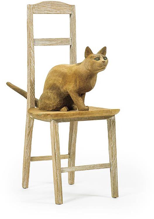島田鉱一呂「椅子の上の猫」/