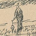 川上澄生「自筆画稿 ヴィクトリアにて」