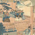 貞秀「東山殿猿楽興行図」