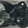 駒井哲郎「L'oiseau et le fruit」