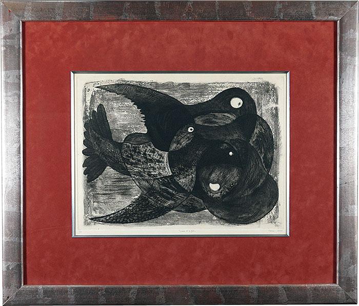 駒井哲郎「L'oiseau et le fruit」/