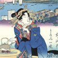 英泉「美人東海道 品川之驛 【復刻版】」