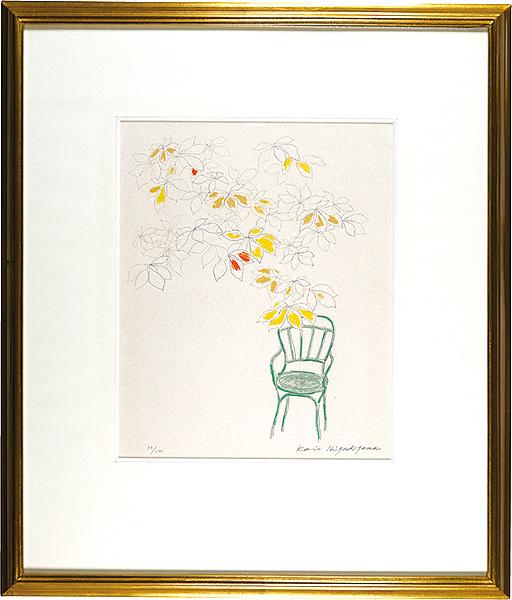 東山魁夷「コンコルド広場の椅子(C)」/