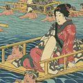 芳員「東海道大井川の図」