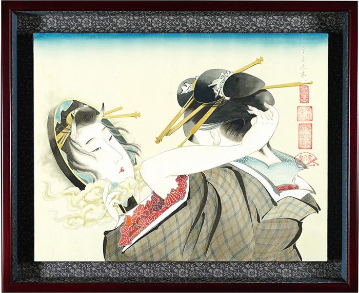 平良志季「美人と雲外鏡」/