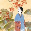 笠松紫浪「自筆画色紙」