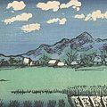川上澄生「風景 下野国」