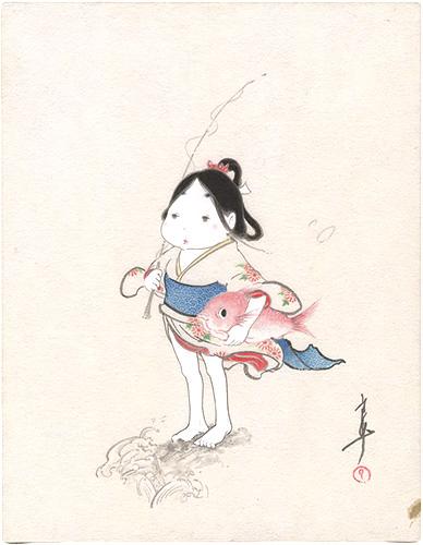 島﨑良平「鯛とおかめ」/