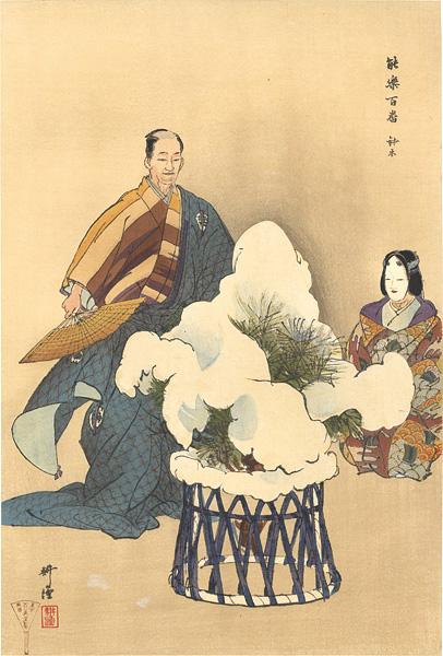 月岡耕漁「能楽百番 鉢木」/