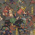 芳虎「楠千劔破篭城之図」
