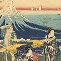 重宣「相州江ノ嶋詣之図 鎌倉七里ヶ浜風景」