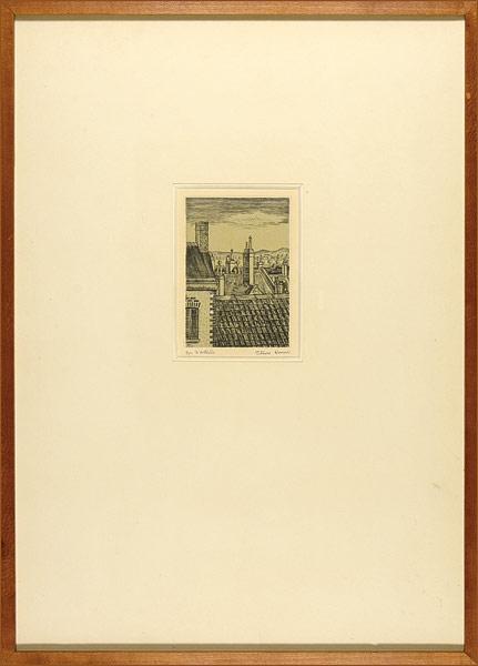 駒井哲郎「仏国風景」/ 作品詳細 商品番号35661 作家 駒井哲郎「仏国風景」