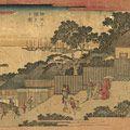 広重初代「東都名所坂つくしの内 伊皿子潮見坂之図」