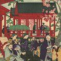 広重三代「東京滑稽名所 上野公園婦人の酒狂」