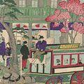 広重三代「東京名所銀座通里煉瓦石造商家之図」