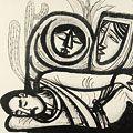 北川民次「眠るインディアン」