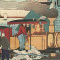 一景「高輪鉄道蒸気車之全図」
