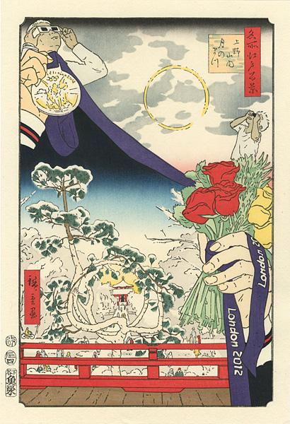 福田美蘭「2012年の雪月花」/
