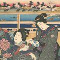 豊国三代「隅田堤遠景之図」
