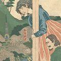 貞秀「東都名所見物異人 王子滝の川の景色 おらんだ」