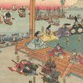 芳藤「足利尊氏戦場首途出船の図」
