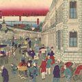 国輝二代「東京銀座要路煉瓦石造真図」
