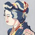 安井曾太郎「着物の女」